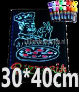 LED schrijfbord 30cm*40cm   90 functies