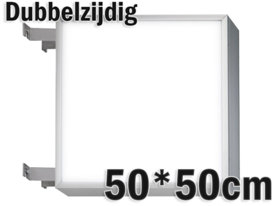 LED lichtbak 50x50cm - Dubbelzijdig