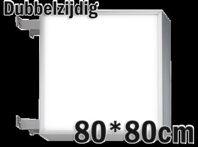 LED lichtbak 80x80cm - Dubbelzijdig