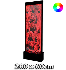 LED bubbel wand 200 x 60 cm