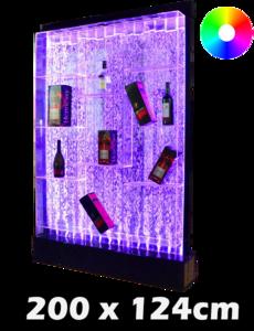 LED bubbel kast 200 x 124 x 24 cm