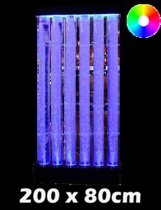 LED bubbel wand tubes 200 x 80 cm