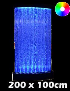 LED bubbel wand tubes 200 x 100 cm