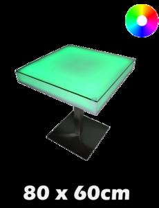 LED tafel 80 x 60 x 60 cm