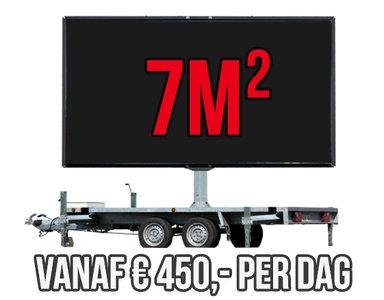 Mobiel LED scherm 7m2 - Verhuur 1 dag