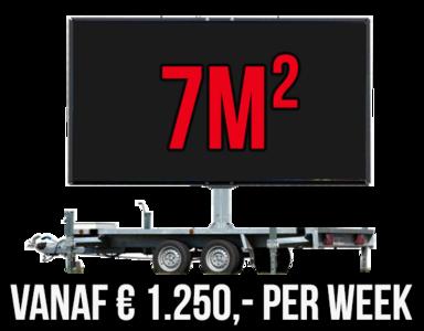 Mobiel LED scherm 7m2 - Verhuur 1 week