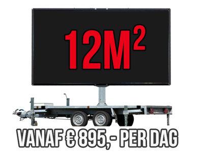 Mobiel LED scherm 12m2 - Verhuur 1 dag