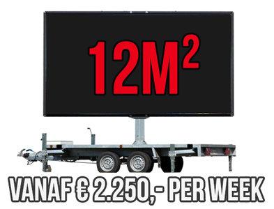 Mobiel LED scherm 12m2 - Verhuur 1 week