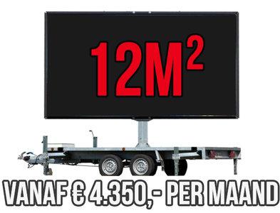 Mobiel LED scherm 12m2 - Verhuur 1 maand