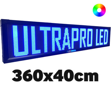 UltraPro series - Professionele LED lichtkrant afm. 360 x 40 x 7 cm