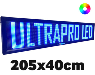 UltraPro series - Professionele LED lichtkrant afm. 205 x 40 x 7 cm