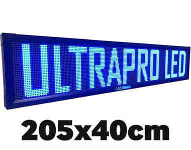 SALE! Blauwe professionele LED lichtkrant 40*205cm