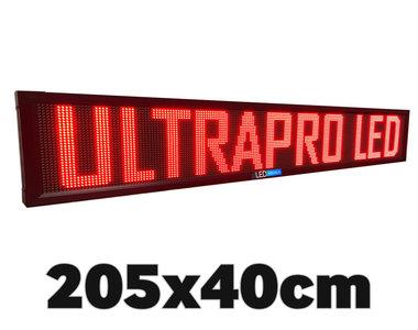 SALE! Rode professionele LED lichtkrant 40*205cm