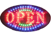 LED bord ' OPEN' round