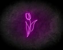 FLOWER-LINE-ART-neon-sign-LED-neon-reclame-bord