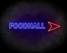 FOODHALL-neon-sign-LED-neon-reclame-bord