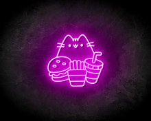 CAT-&-FAST-FOOD-neon-sign-LED-neon-reclame-bord