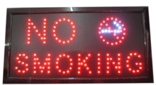 LED bord 'NO SMOKING'