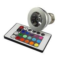 3W RGB LED lamp met E27 fitting