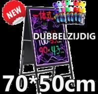 Dubbelzijdig LED schrijfbord 70cm*50cm | 90 functies