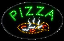 LED bord 'PIZZA' round