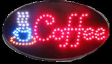 LED bord 'COFFEE'