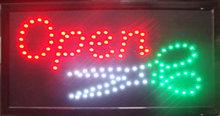 LED bord ' OPEN '  met schaar