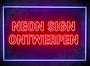 NEON SIGN ONTWERPEN - LED neon reclame borden - Lichtreclame - LED bord_