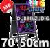 Dubbelzijdig LED schrijfbord 70cm*50cm | 90 functies_
