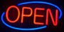 LED open sign 'Neon' round XL_