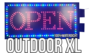 Outdoor LED open bord XL _